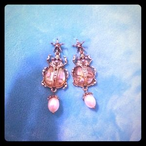 Scarab design earrings